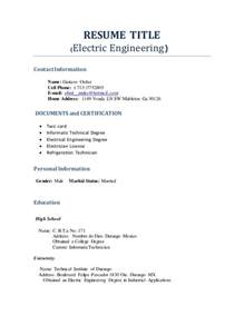 name for resume title resume title profesional engineering