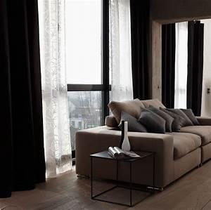 Idée Rideau Salon : rideau salon blanc et noir avec des id es int ressantes pour la conception de la ~ Preciouscoupons.com Idées de Décoration
