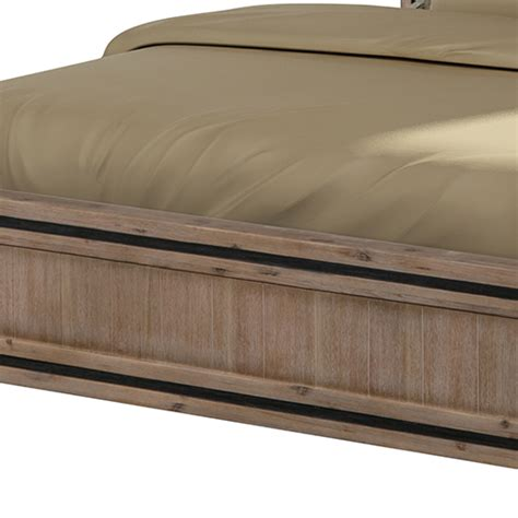 buy seashore silver brush acacia queen bed frame
