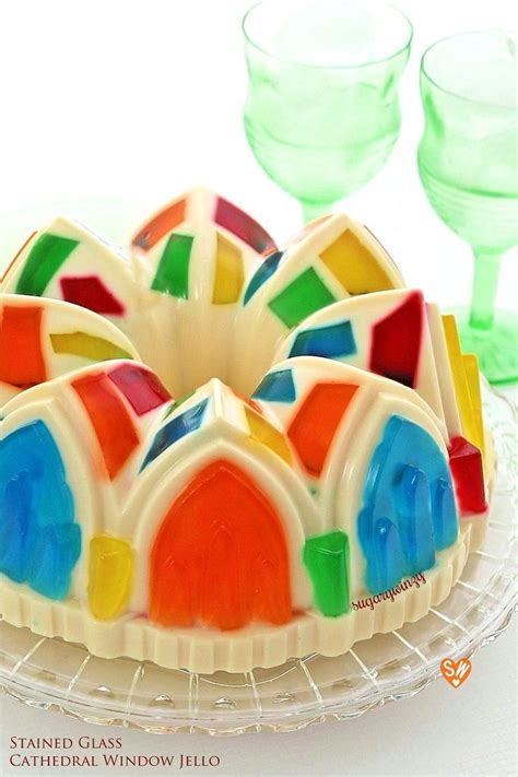 colorful stained glass cathedral window jello recipe