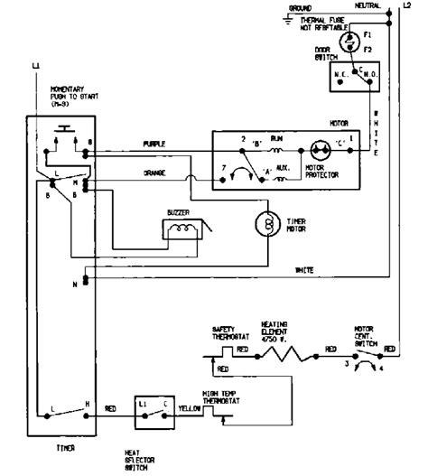 Admiral Dryer Sample Schematic American Service Dept