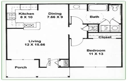 2 Bedroom 1 Bath Floor Plans 2 Bedroom 2 Bathroom 3