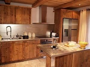 design cuisine chalet vieux bois chalet pinterest With decoration cuisine marocaine photos