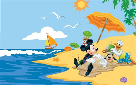 summer adventures  mickey mouse donald duck goofy