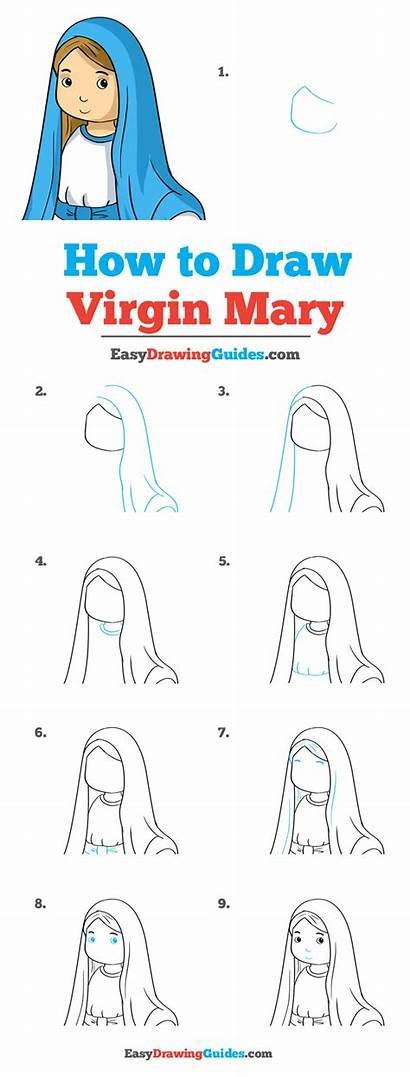 Mary Virgin Draw Drawing Tutorial Easy Really
