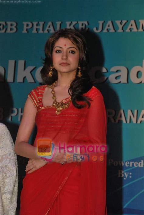 Anushka Sharma In Red Hot Backless Saree