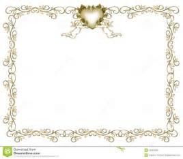 cadre mariage anges de cadre d 39 or d 39 invitation de mariage photos libres de droits image 10591578