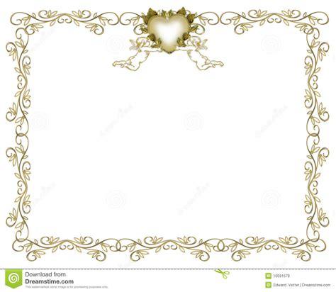anges de cadre d or d invitation de mariage photos libres de droits image 10591578