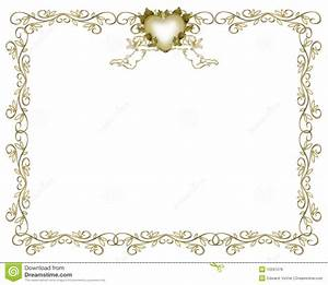 wedding invitation gold border angels royalty free stock With golden wedding invitation borders free download