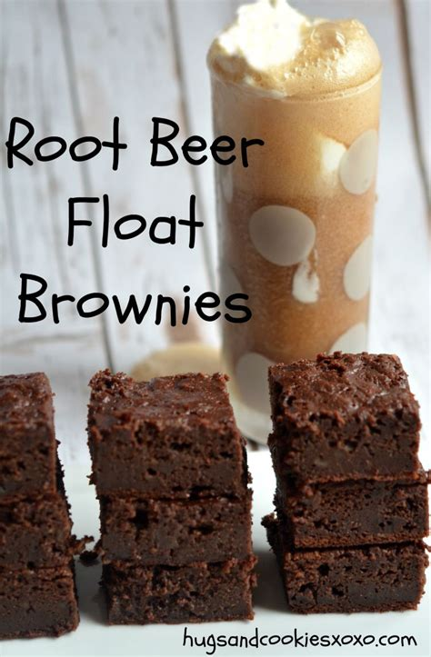 root beer float brownies hugs  cookies xoxo