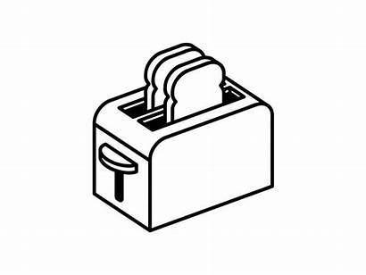 Toaster Dribbble Isometric Icon Drawings Drawing Bitch