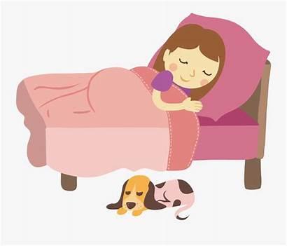 Bed Rest Sleep Clipart Clip Sleeping Woman