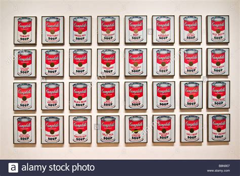 andy warhol s cbell soup display museum of modern stock photo royalty free image
