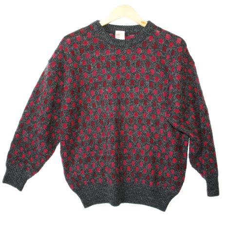 what is a cosby sweater vintage 80s checkerboard cosby style sweater