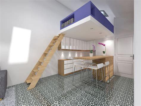 mezzanine dans une chambre transformer atelier de bricolage en studio indépendant
