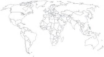 Black And White Simple World Map