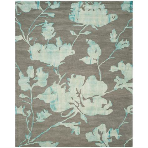 turquoise and gray area rug safavieh dip dye gray turquoise 9 ft x 12 ft area rug