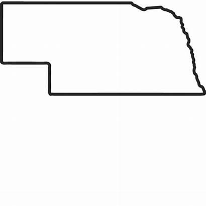 Nebraska Outline Stamp Rubber States State Stamps