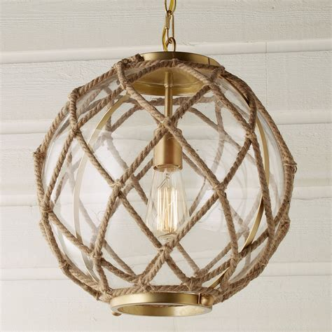 Jute Rope Globe Pendant   Shades of Light