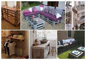Faire Des Meubles Avec Des Palettes : faire des meubles avec des palettes en bois cgrio ~ Preciouscoupons.com Idées de Décoration