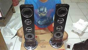 Unboxing Tv Led Polytron 32 Inch   Two Tower Speaker