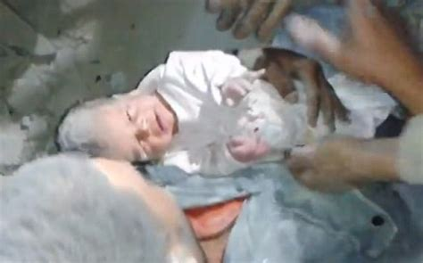 Two Month Old Baby Trapped For 16 Hours In Rubble Rescued