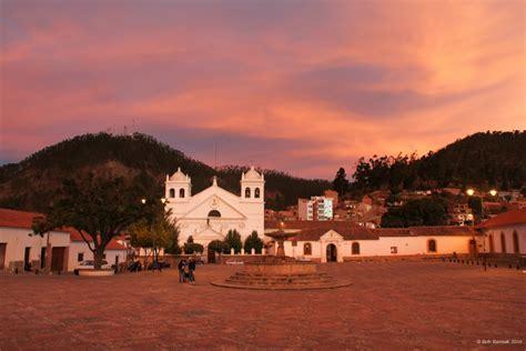 plaza pedro de anzares sucre bolivia  sunset
