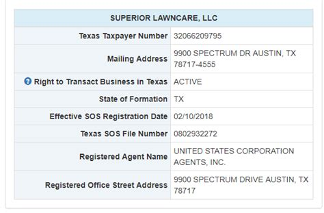 search  business names  texas