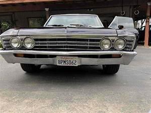 1967 Chevrolet Chevelle Black Rwd Manual Malibu For Sale