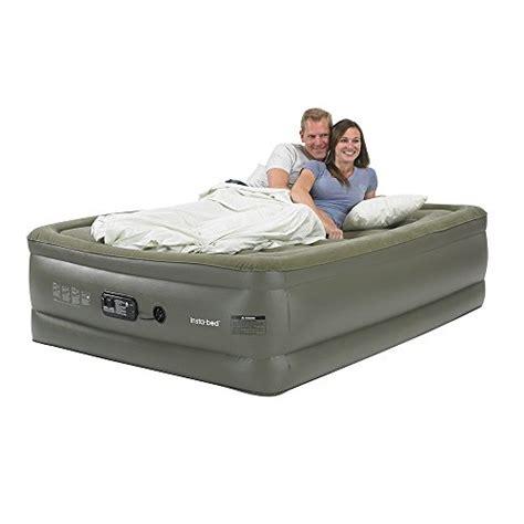 insta bed raised air mattress insta bed raised air mattress with sure grip bottom