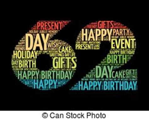 happy 62nd birthday happy 62nd 62nd vector clipart illustrations 6 62nd clip vector eps drawings available to search from