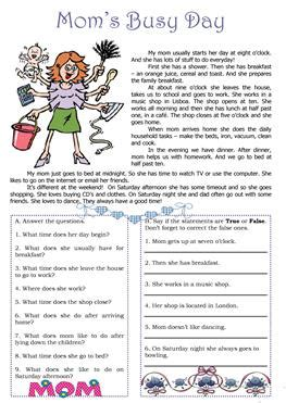 esl busy worksheets