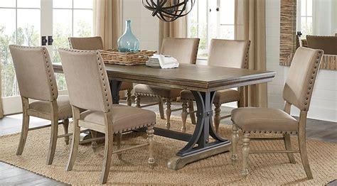 sierra vista driftwood  pc rectangle dining set dining room sets rectangle dining table