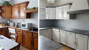 But Meuble De Cuisine : repeindre des meubles de cuisine youtube ~ Dailycaller-alerts.com Idées de Décoration