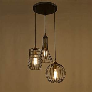 Yobo lighting antique lights oil rubbed bronze chandelier with wire cage in the uae see