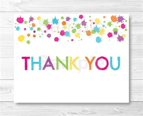 thank you template rainbow thank you card template birthday