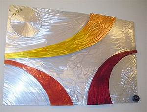 Wall art sculpture and sculptures in brushed aluminum
