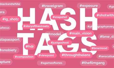 guide  instagram hashtags  photographers