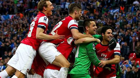 The Emirates FA Cup - Arsenal beat Wigan in 2014 semi ...
