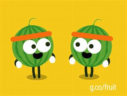 Melons Fruit Google Banana Doodle Running Dribbble
