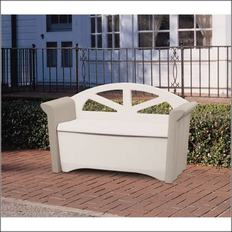 rubbermaid patio storage bench deck bench seating with storage decks home decorating
