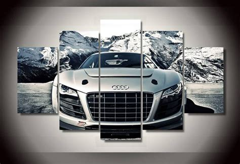 unframed printed audi car  piece picture painting wall
