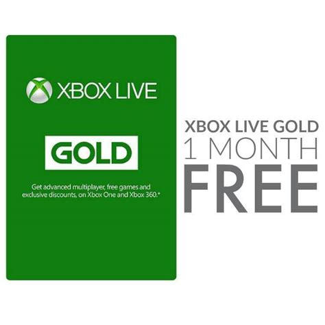 1 xbox live 1 month of xbox live gold free for everyone