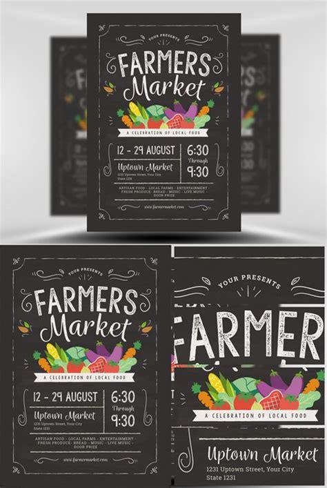 flyer template farmers market nitrogfx