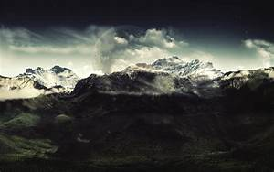 mountain, , clouds, , dark, , nature, , landscape, wallpapers, hd, , , , desktop, and, mobile, backgrounds