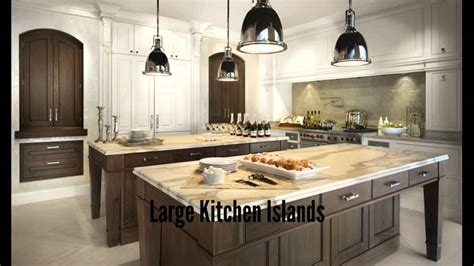 how big is a kitchen island large kitchen islands youtube