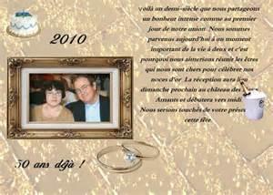 52 ans de mariage invitation pour des noces d 39 or