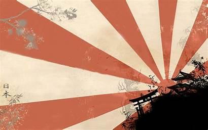 Japan Sun Rising Japanese Flag Wallpapers Grunge