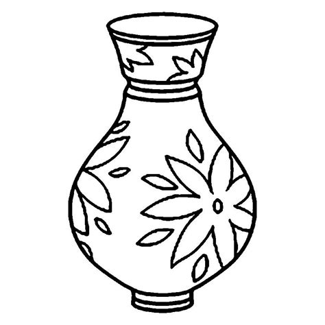 vase coloring pages    print