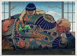 asian, illustration, japan, japanese, tattoo, yakuza ...